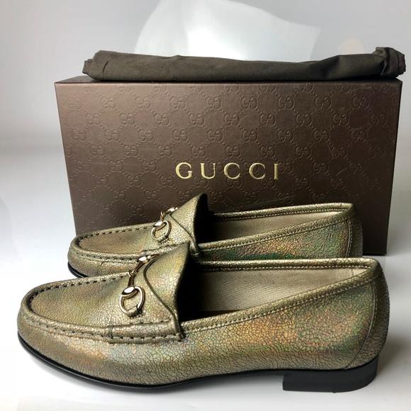 39780d8c90a Gucci Horsebit Loafers Nizza Laser Fawn Flats 38